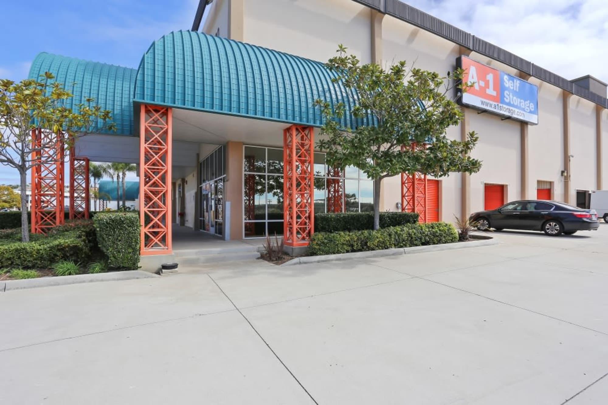 Entrance at A-1 Self Storage in San Diego, California