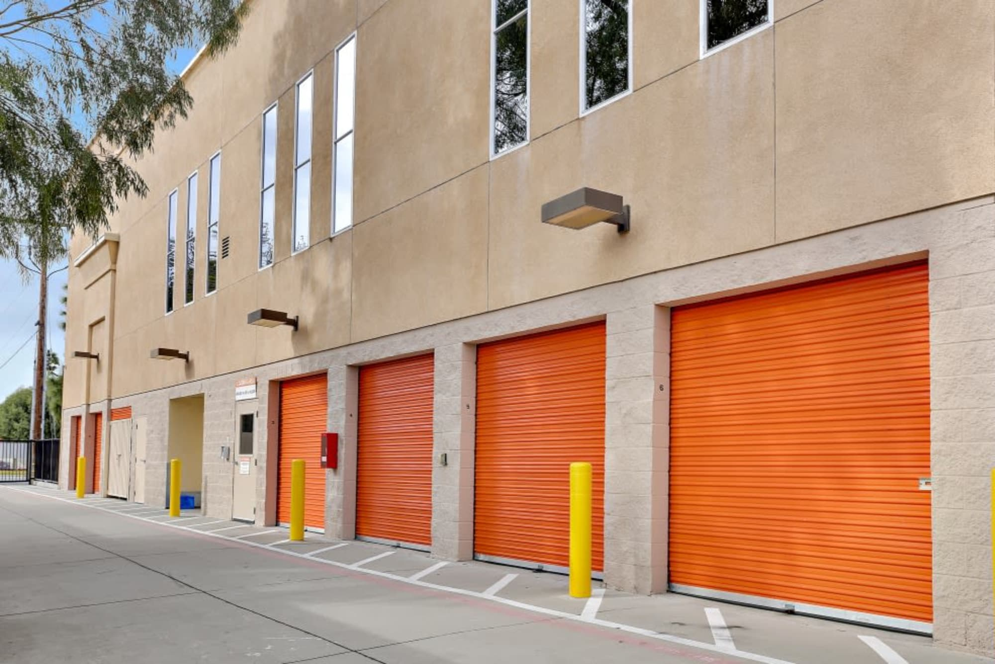 Large outdoor storage units at A-1 Self Storage in San Jose, California
