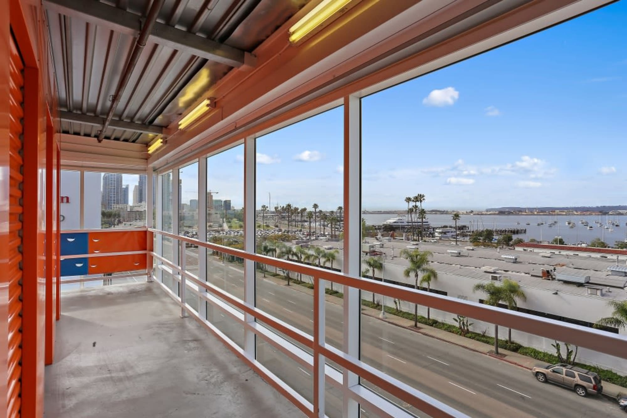 A view of the San Diego ocean from A-1 Self Storage