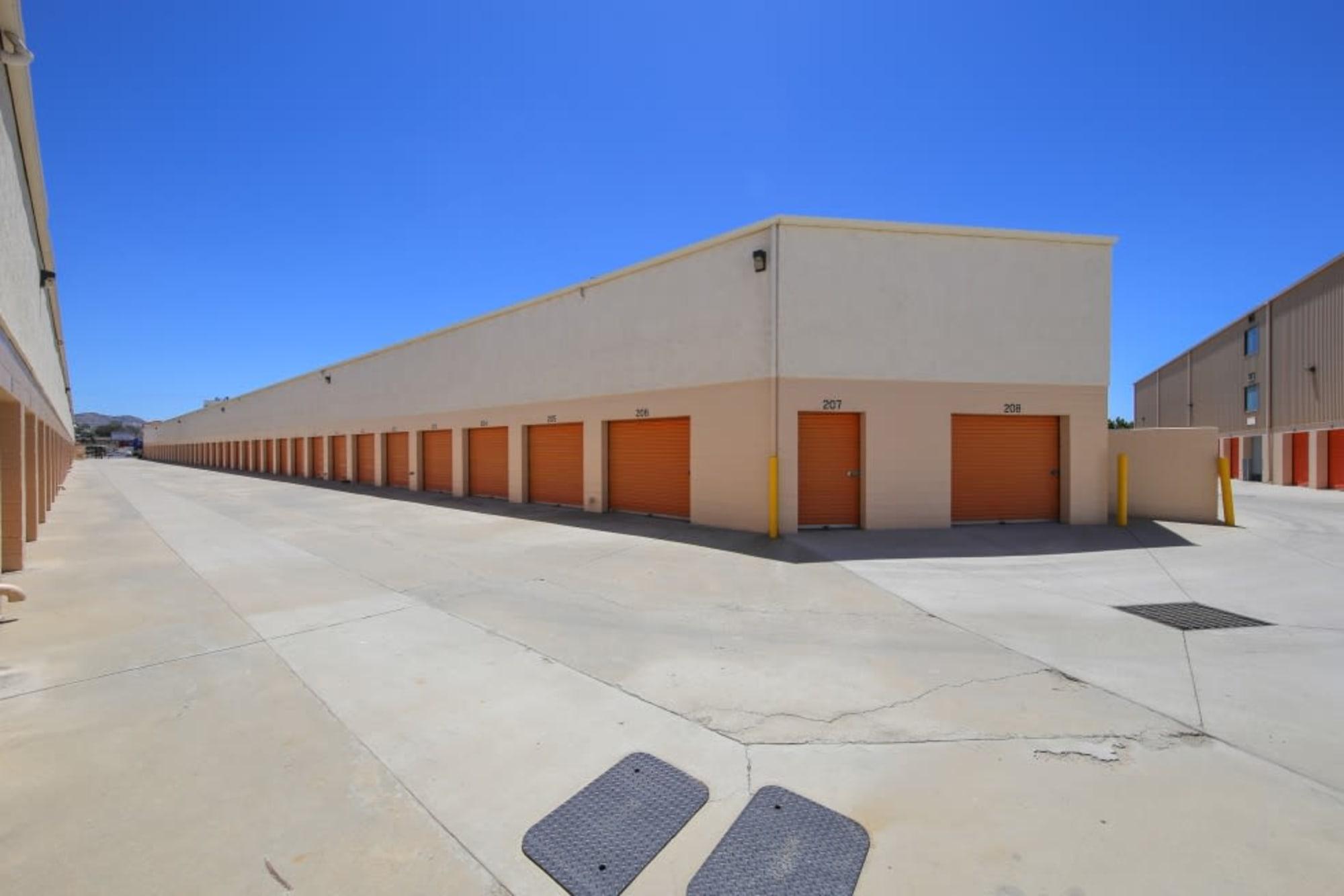 Drive-up storage units at A-1 Self Storage in El Cajon, California