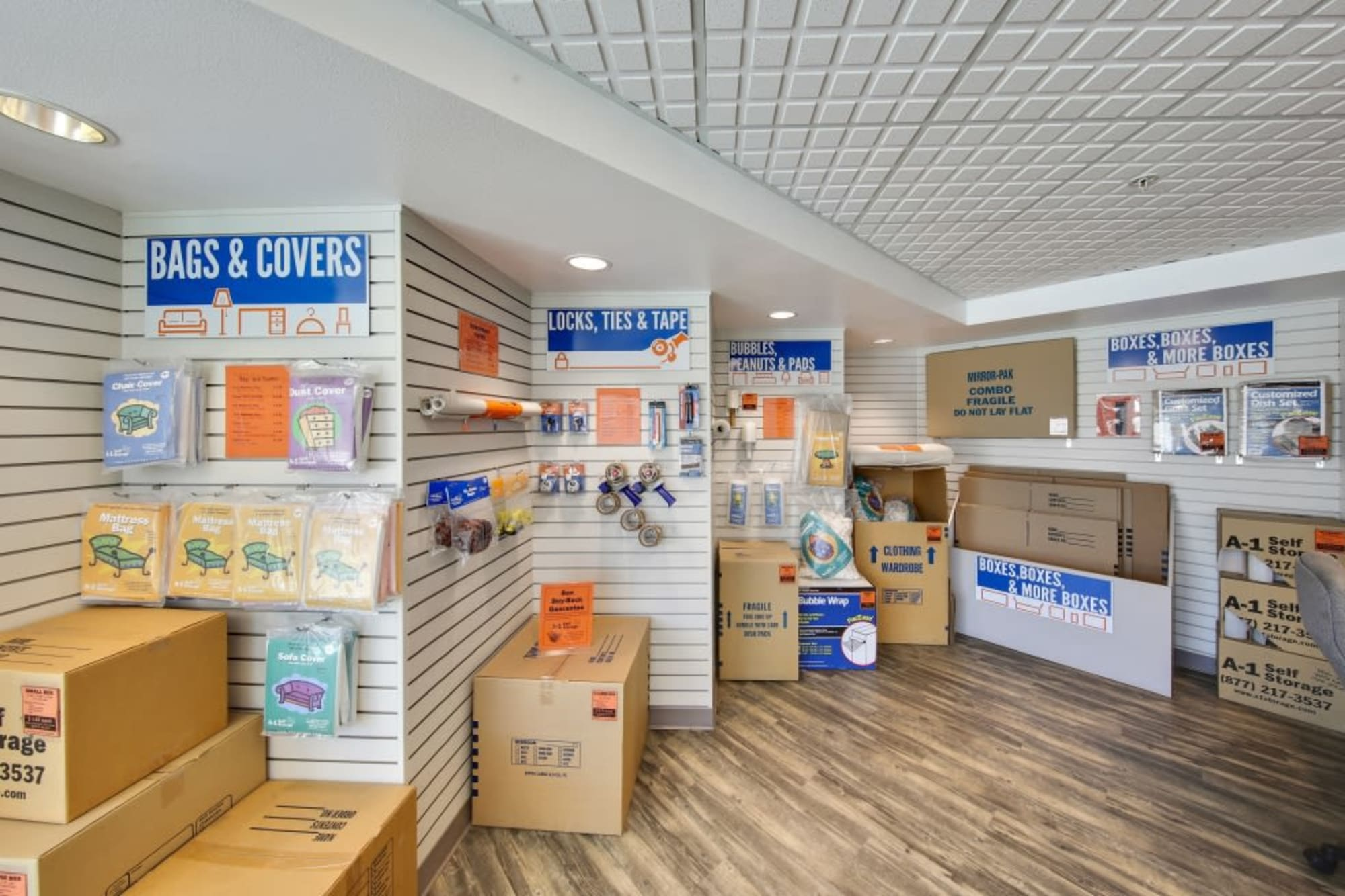 Moving supplies available at A-1 Self Storage in El Cajon, California