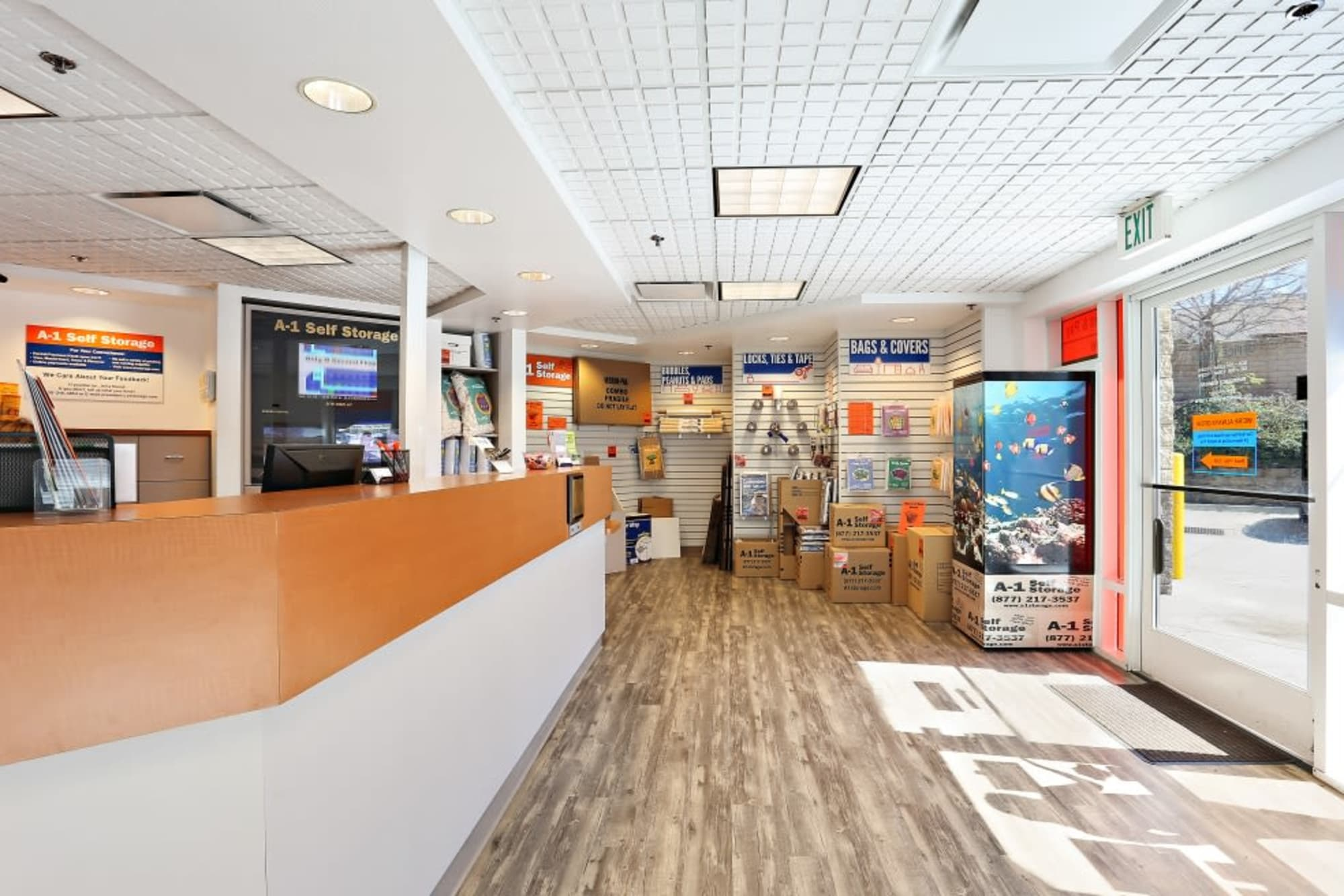 The leasing office at A-1 Self Storage in La Mesa, California