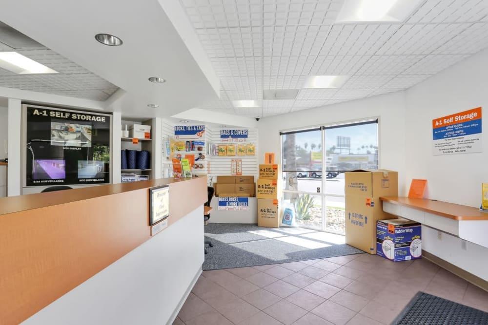 The office at A-1 Self Storage in El Cajon, California