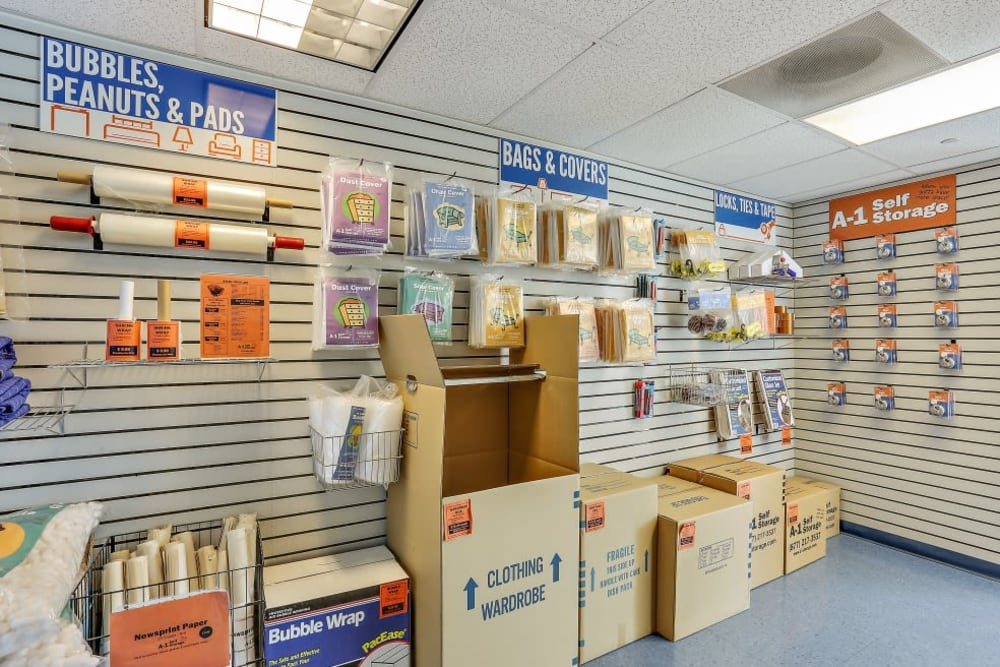 Packing and moving supplies available at A-1 Self Storage in Lake Forest, California