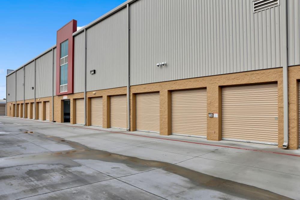 Drive-up storage units at A-1 Self Storage in San Jose, California