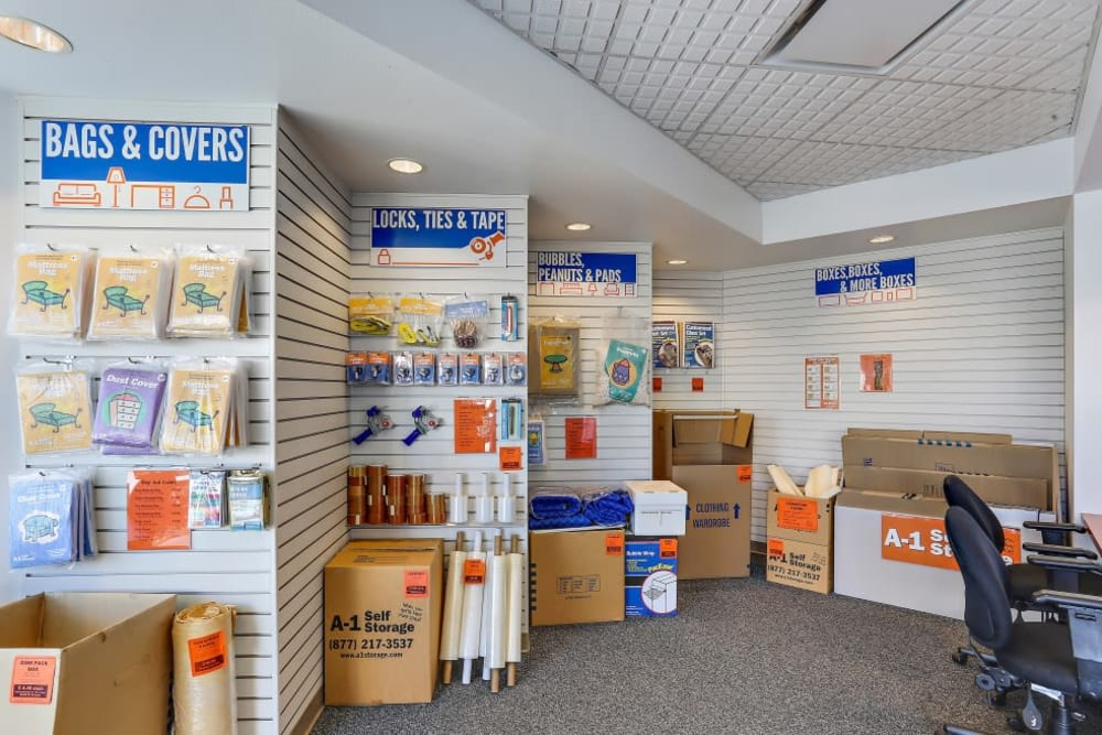Packing and moving supplies available at A-1 Self Storage in Santa Ana, California