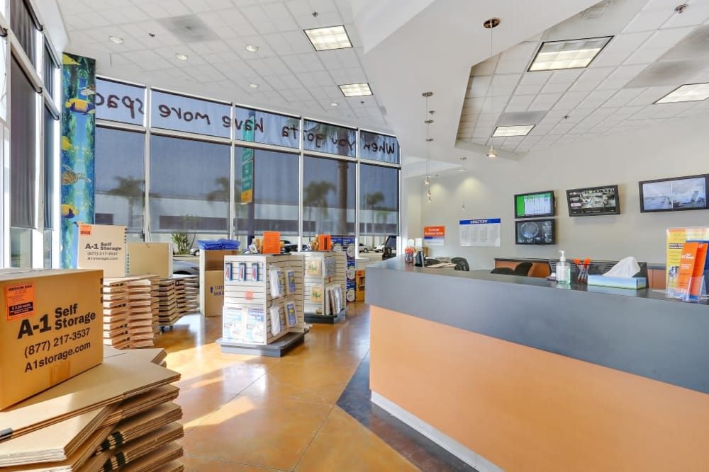 The office at A-1 Self Storage in San Diego, California
