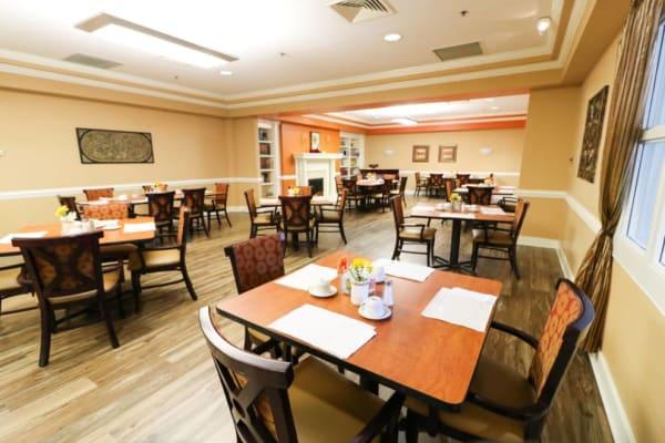 Elegant dining room at The Crossings at Ironbridge in Chester, Virginia