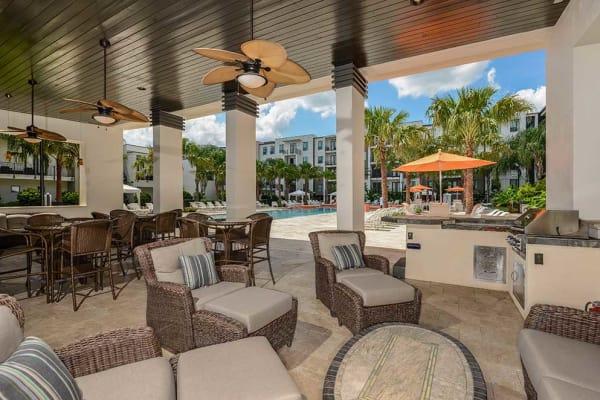 Luxury swimming pool at Spyglass in Jacksonville, Florida