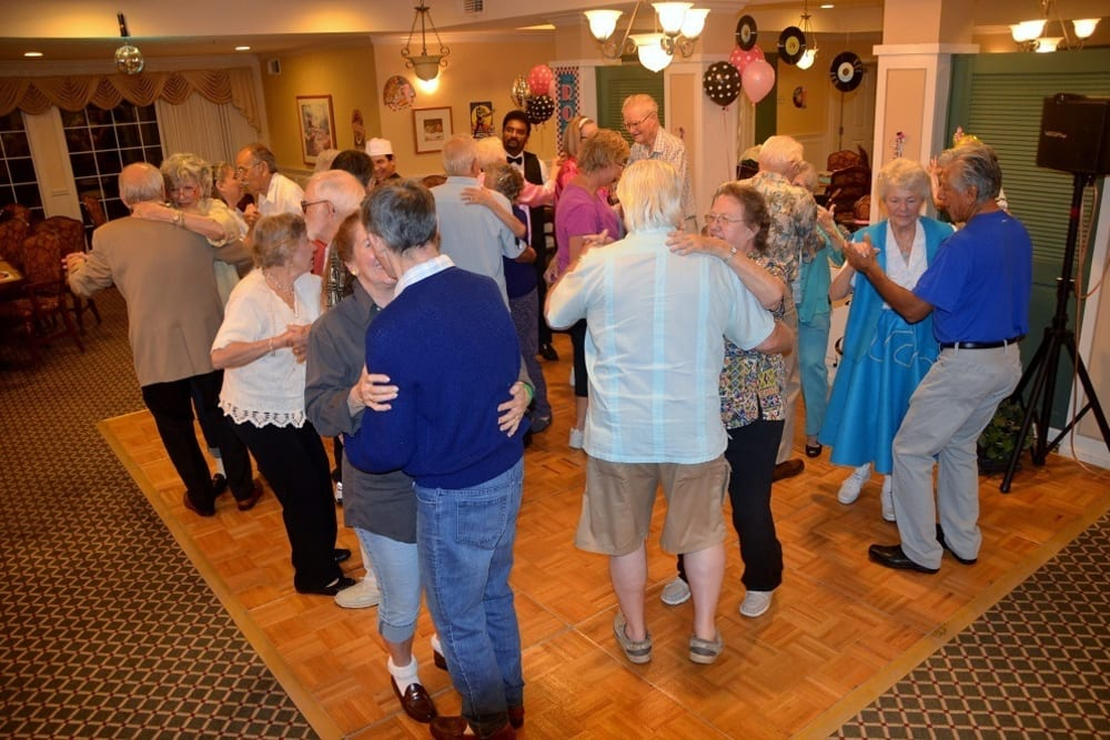 Sock Hop Party at Merrill Gardens at Santa Maria in Santa Maria, California.