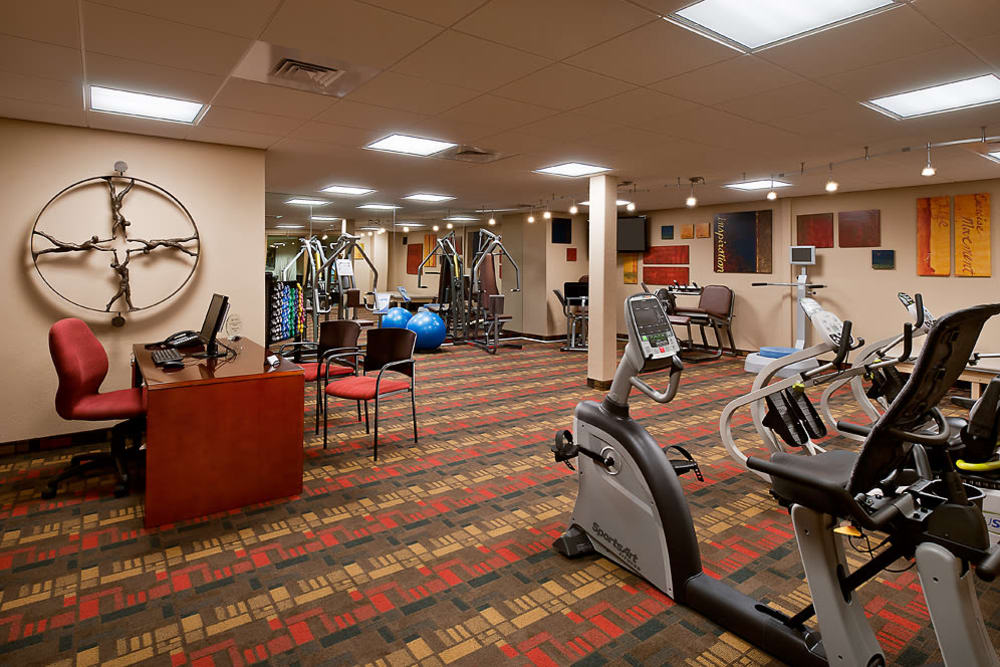 McDowell Village in Scottsdale, Arizona offers a fully equipped fitness center
