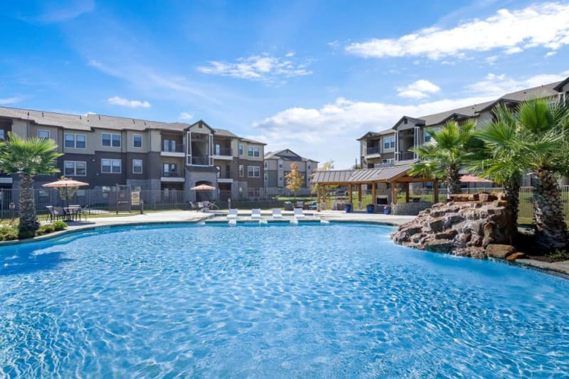 Huge resort style swimming pool at Verandas at Alamo Ranch in San Antonio, Texas