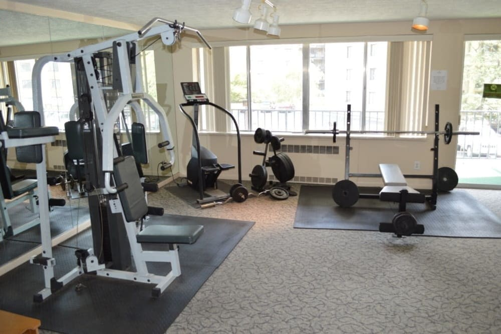 Fitness center at Oak Hill Terrace