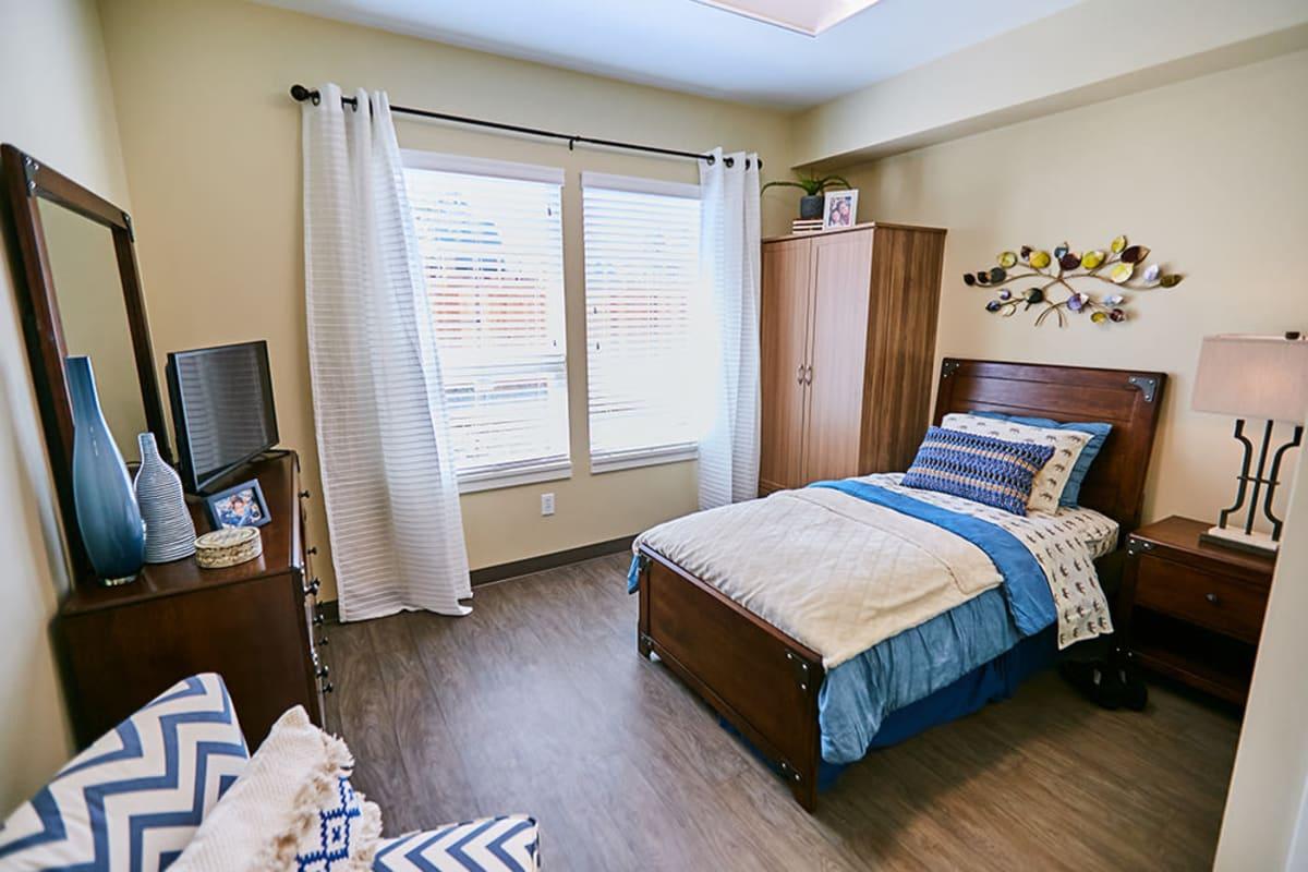 A furnished studio apartment at Farmington Square Gresham in Gresham, Oregon
