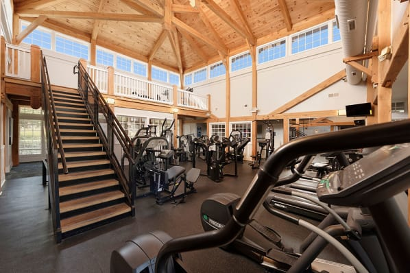 Fitness center at Atkins Circle Apartments in Charlotte, NC