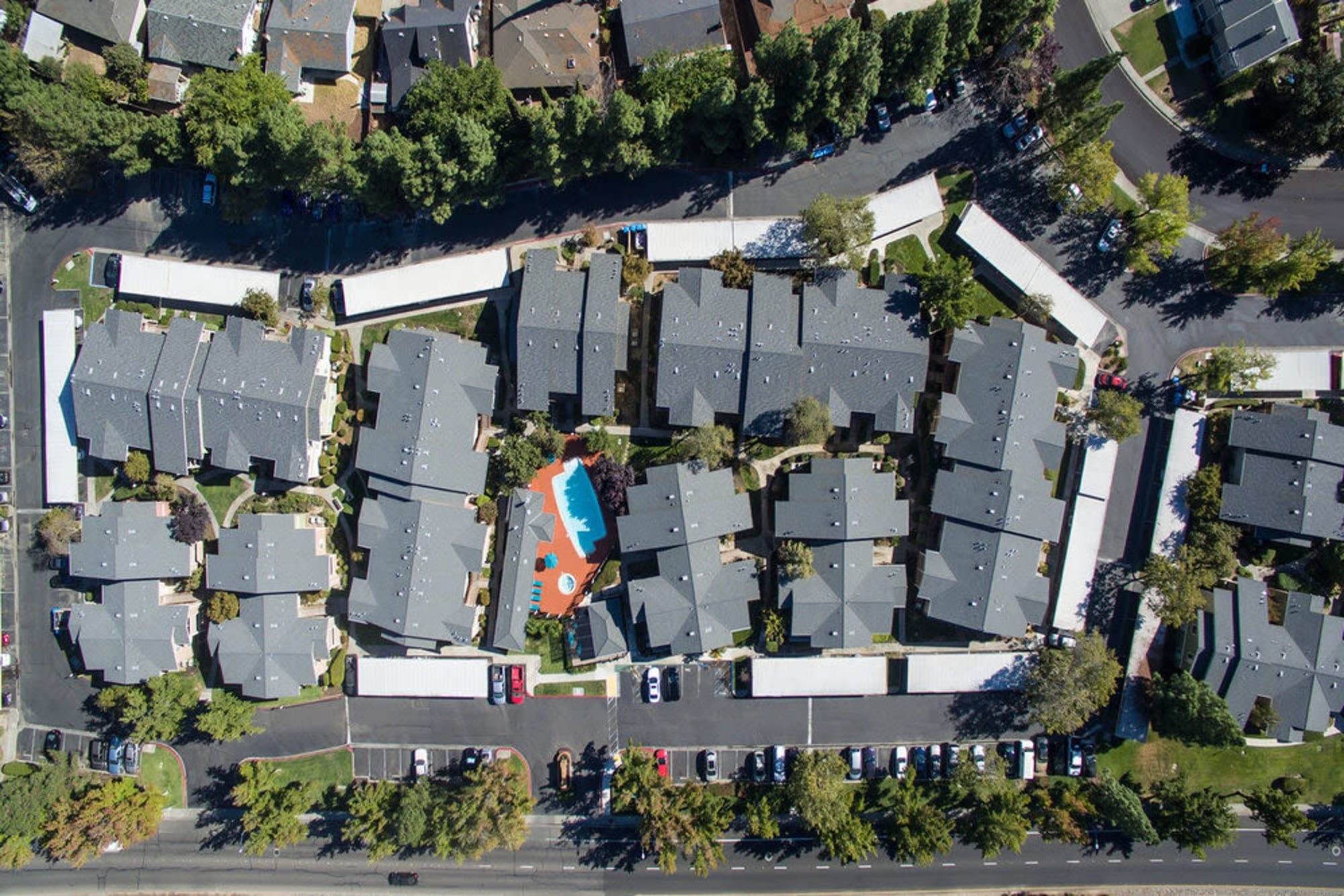 Aerial View of Property at Sommerset Apartments in Vacaville, CA