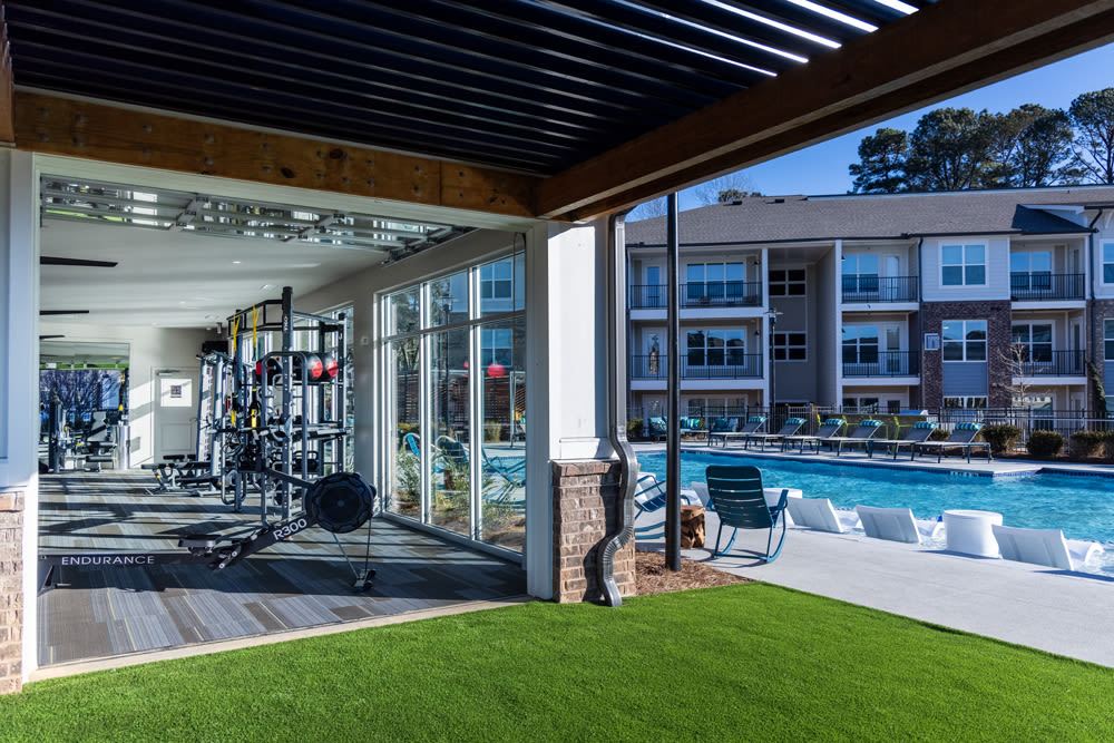 Swimming pool and gym at Sugarloaf Grove in Lawrenceville, Georgia