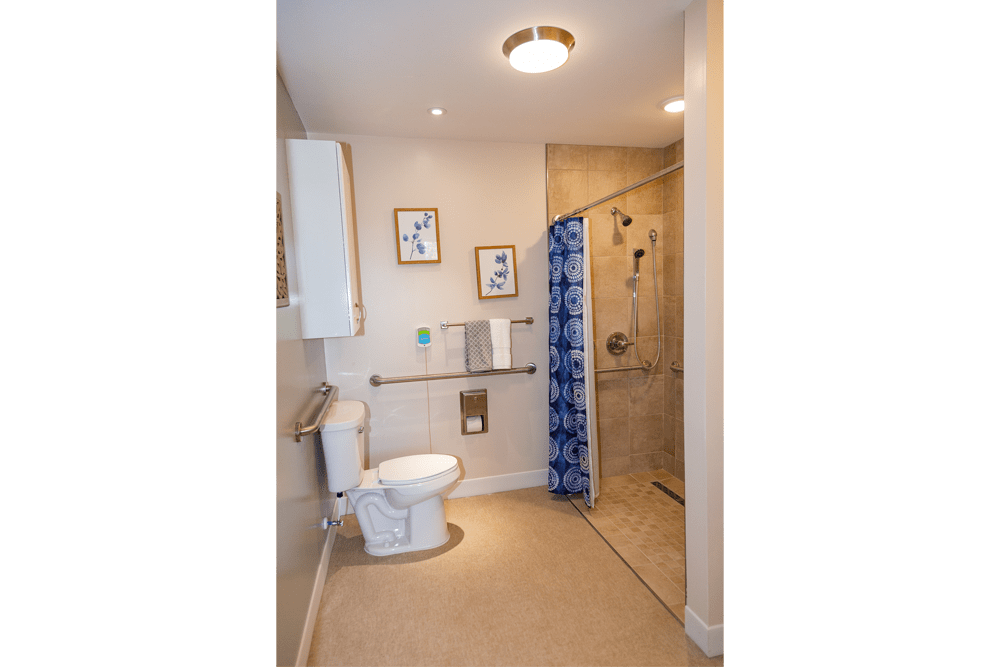 Spacious bathroom at The Legacy at Liberty Ridge in West Chester, Ohio