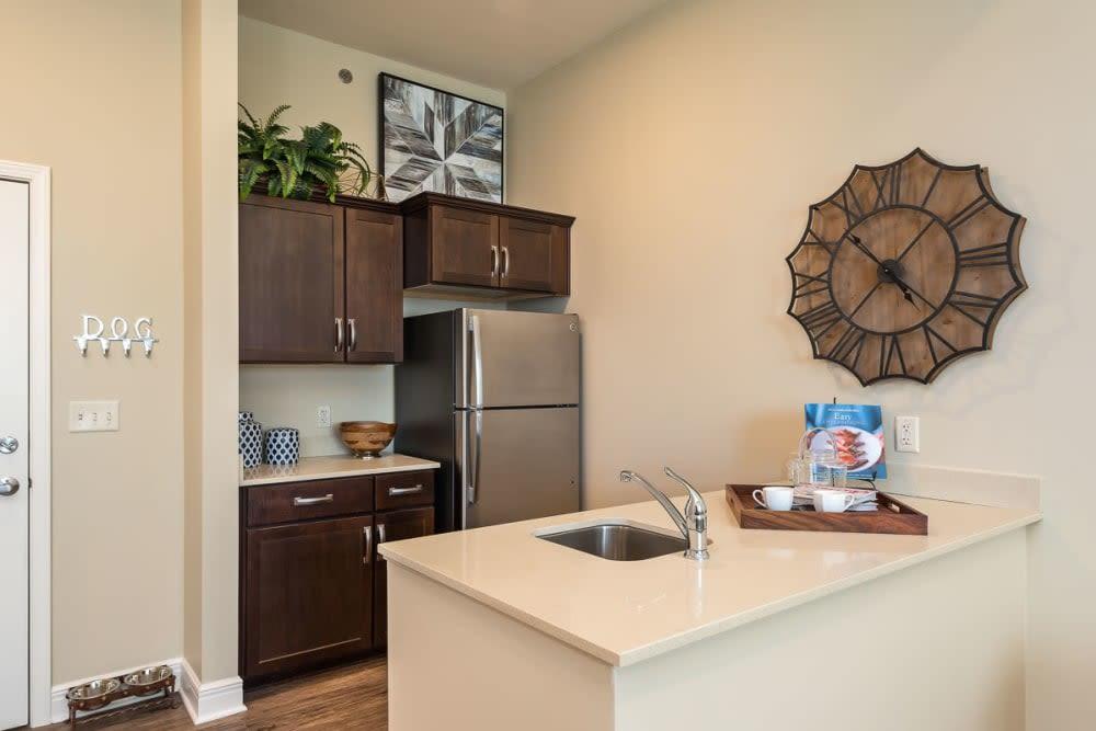 Kitchen area at Stonecrest at Burlington Creek in Kansas City, Missouri
