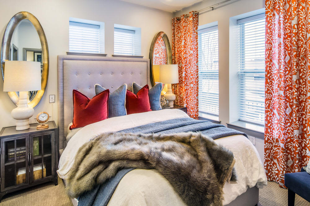 Stonecrest at Clayton View in Saint Louis, Missouri, sunlit bedroom
