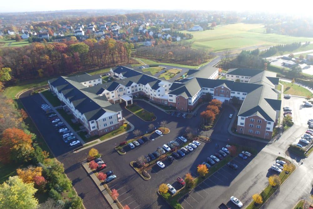 Aerial view of Arbour Square of Harleysville in Harleysville, Pennsylvania