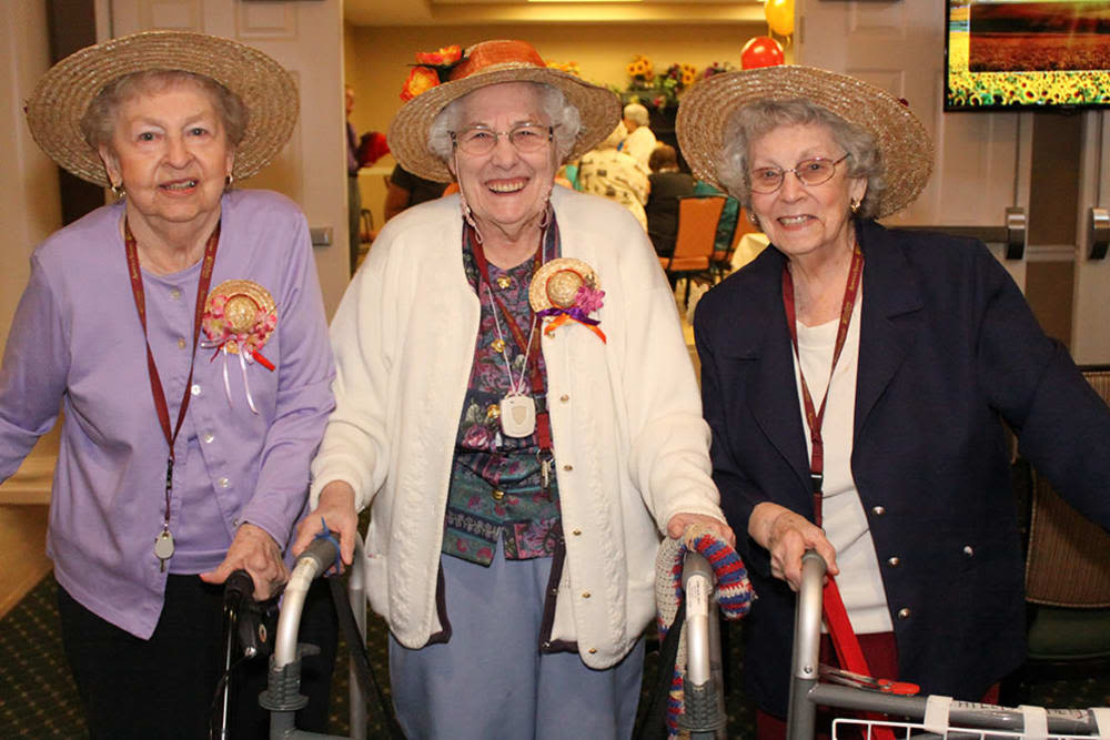 Residents at Arbour Square of Harleysville in Harleysville, Pennsylvania, enjoying a party