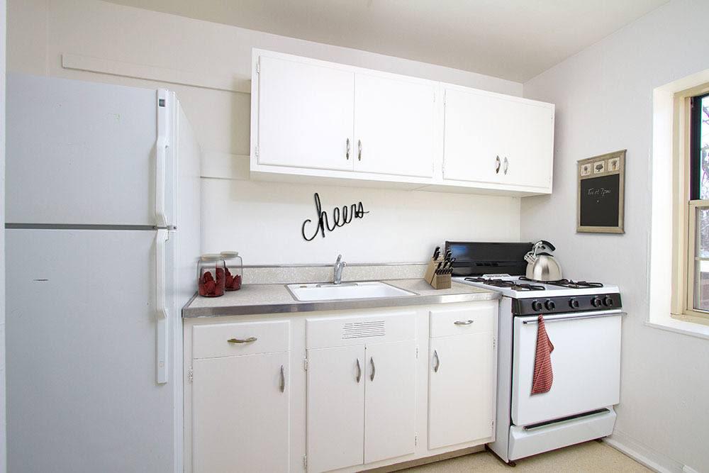 Example kitchen at Brighton Gardens in Rochester, New York