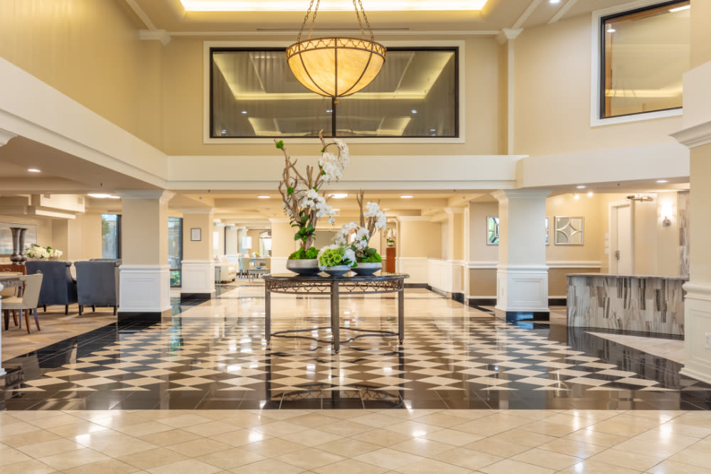 The lobby at Windsor in Dallas, Texas.