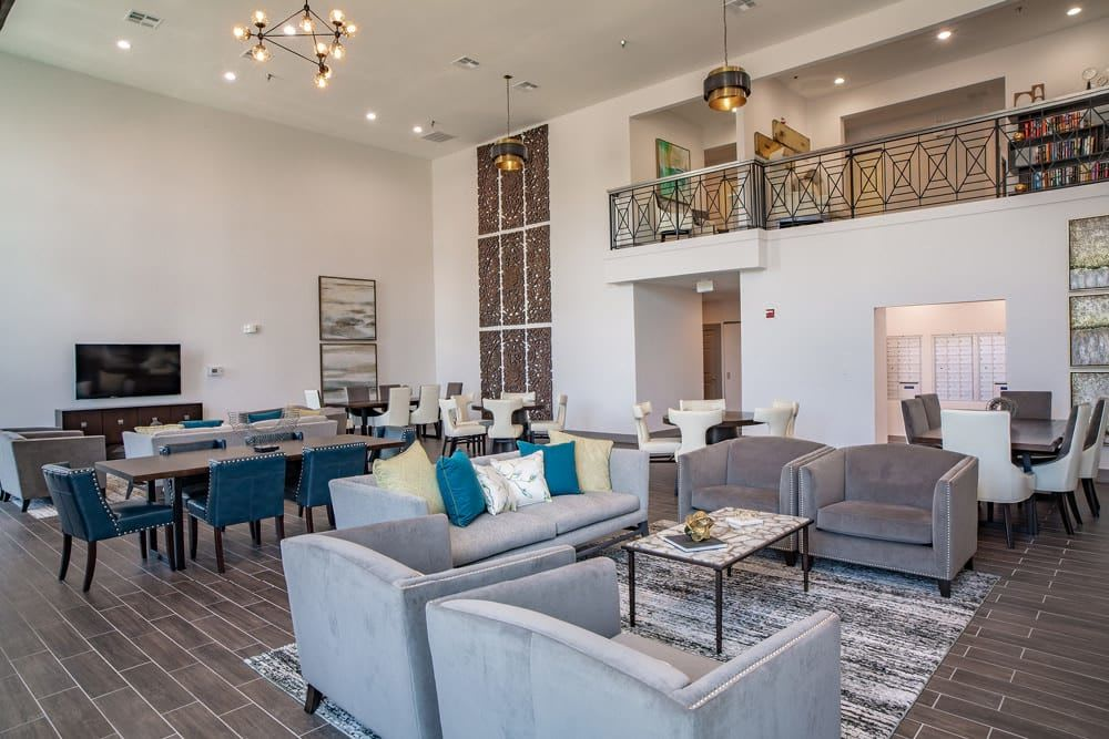 Room with many chairs and couches at The Spring at Silverton in Fort Worth, Texas