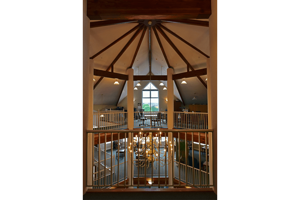 Enjoy a grand ceiling & archway at Regency Village at Prineville retirement home facility