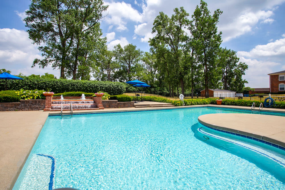 Resort-class swimming pool at Kensington at Beverly Hills in Southfield, Michigan