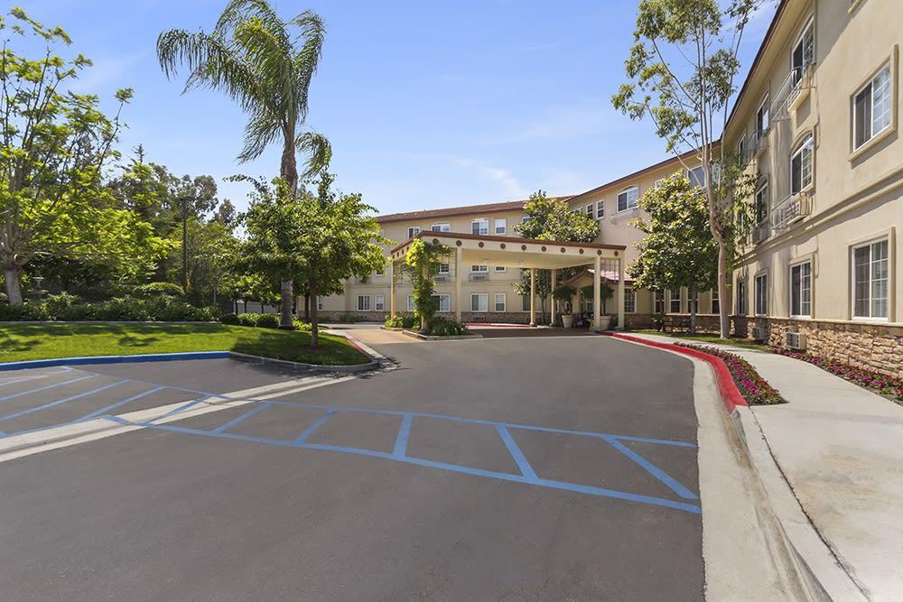The driveway to Merrill Gardens at Oceanside in Oceanside, California