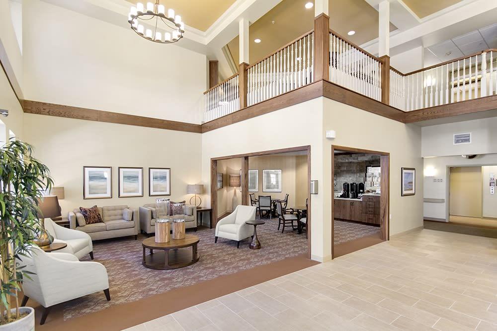 A lounge at Merrill Gardens at Oceanside in Oceanside, California.