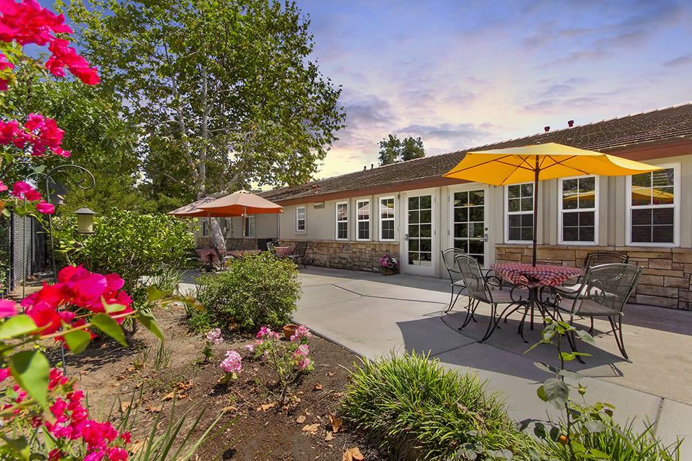 Beautiful landscaping at Merrill Gardens at Oceanside in Oceanside, California