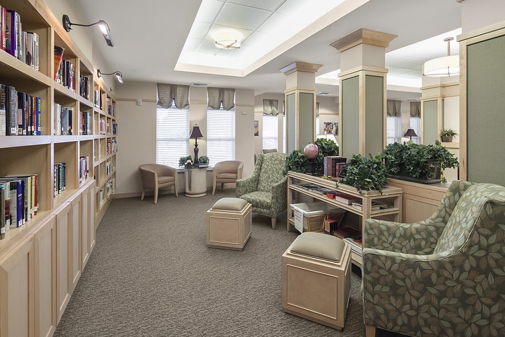 The library at Merrill Gardens at Willow Glen in San Jose, California.