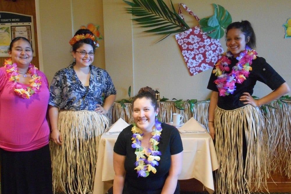 Hawaiian Day at Merrill Gardens at Gilroy in Gilroy, California.