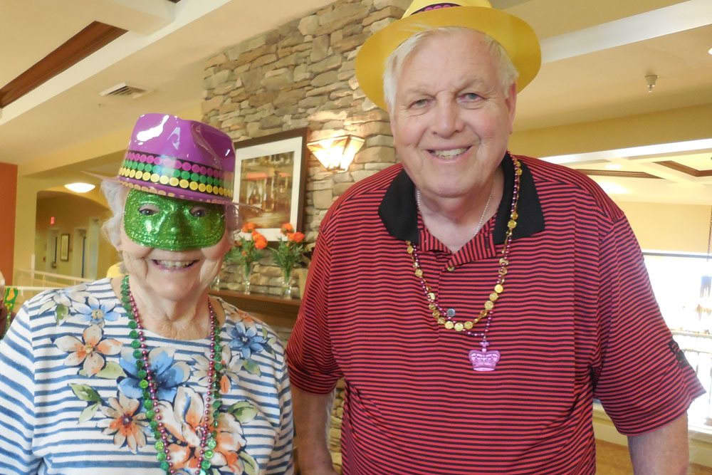Mardi Gras at The Groves, A Merrill Gardens Community in Goodyear, Arizona.