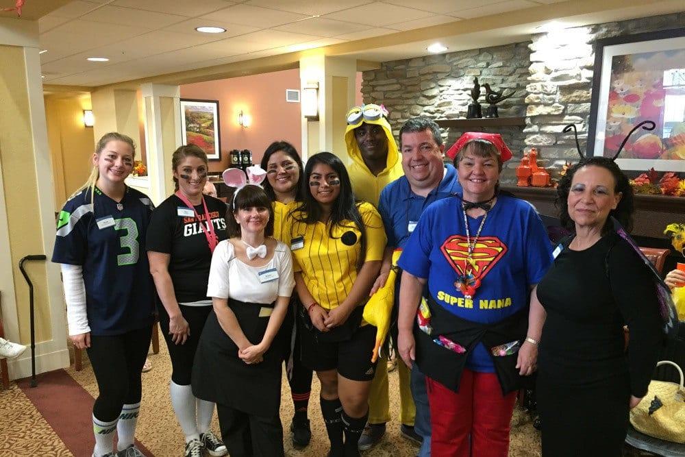 Team Halloween Photo at The Pines, A Merrill Gardens Community in Rocklin, California