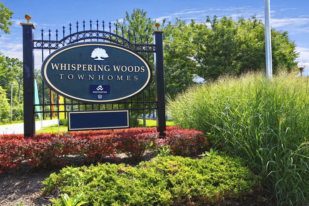 Exterior of our beautiful apartments at Whispering Woods in Middle River, MD