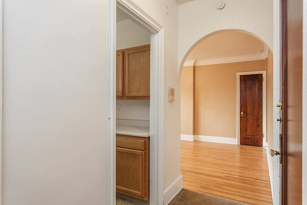 Hallway arch in apartment at Barrington Apartments