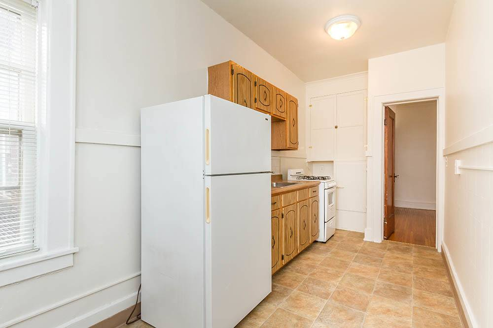 Spacious kitchen at Colby, Carlton, and Colby Park Apartments