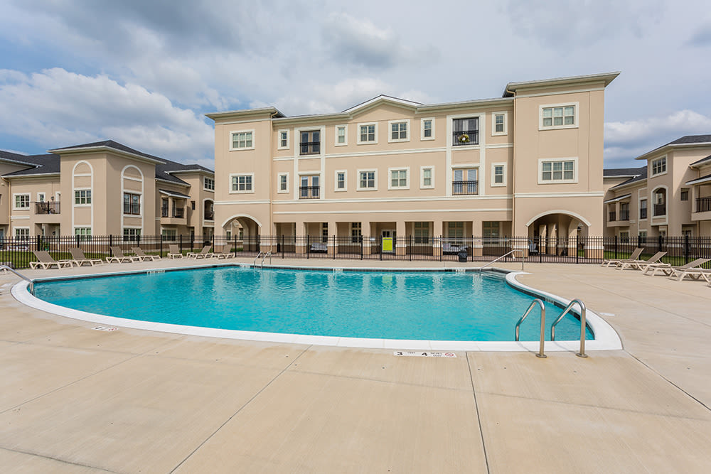 Pool at apartments in Rochester