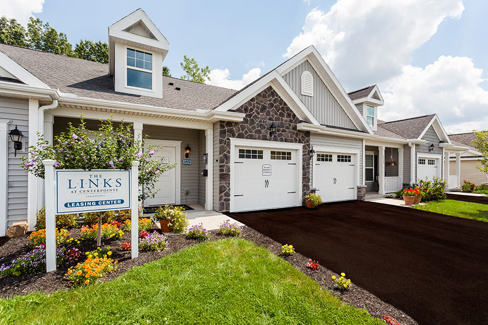 The Links at CenterPointe Townhomes leasing office in Canandaigua, NY