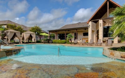 Enjoy the pool at Park Hudson Place in Bryan, Texas