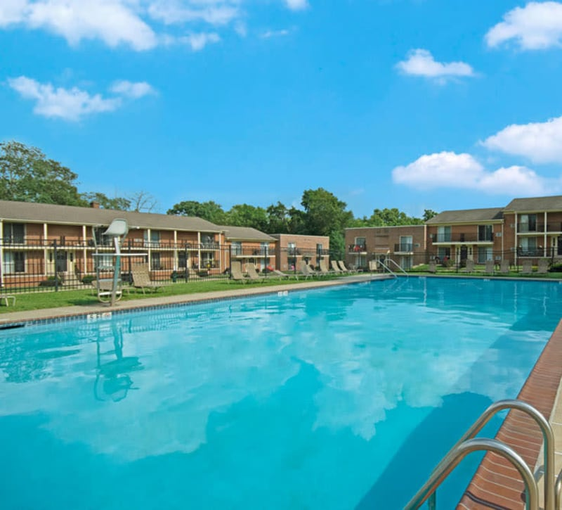 Swimming pool at New Orleans Park Apartments in Secane, Pennsylvania