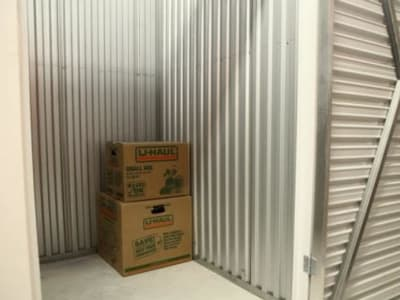 Storage unit and boxes at Clutter Self-Storage in White Plains, New York