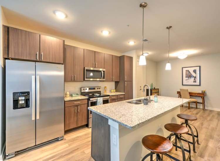 Spacious open-concept layout in one of Fort Family Investments's furnished and flexible communities in Jacksonville, Florida