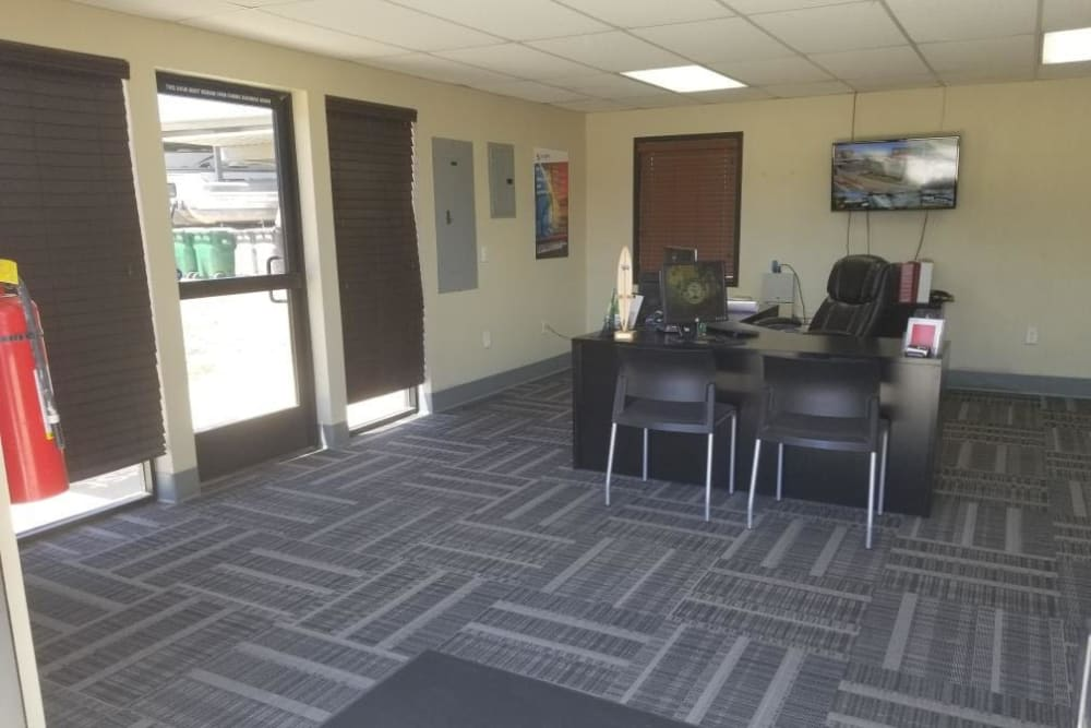 Leasing office at StorQuest RV and Boat Storage in Moreno Valley, CA