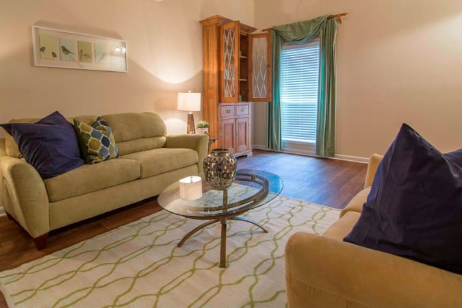 Spacious living room area at The Springs in Smyrna