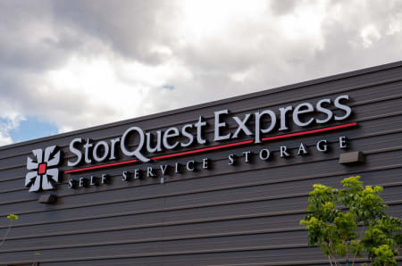 Building Sign at StorQuest Express - Self Service Storage in Sacramento, California